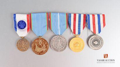 Ordres et décorations : médaille des cheminots,...
