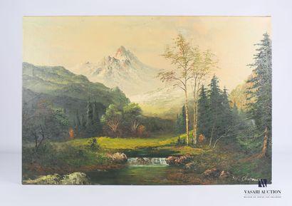 CHAPMAN W. (XXème siècle)  Rivière dans un...