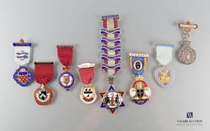 [GRANDE BRETAGNE]  Ensemble de huit médailles...