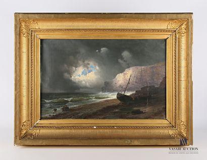 GODCHAUX (XIXème siècle)  Barque amarées...