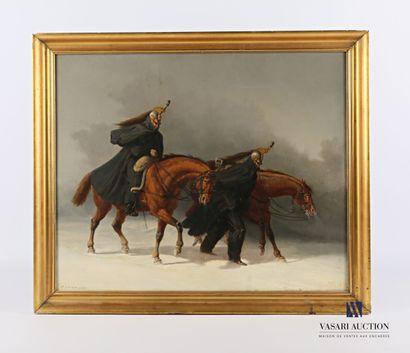 PAYEN Camille (1824-1901)  Scène de militaires...