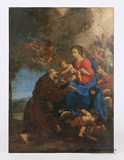 Ecole romaine, vers 1730  Saint Dominique...