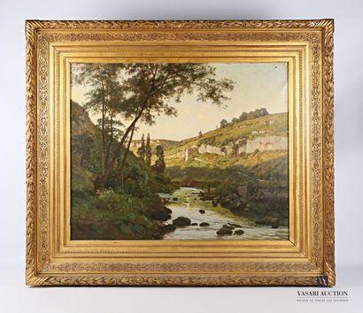ISENBART Emile (1846-1921)  Paysage au ruisseau...