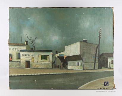 SOULAN Jean (1911-1972)  Vue de village au...