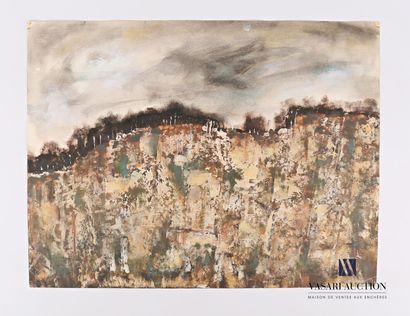 SOULAN Jean (1911-1972)  Paysage abstrait...