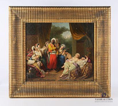 ABBATI Vincenzo (1803-1866)  Le harem  Huile...