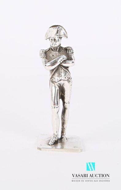 Statuette en argent figurant Napoléon  Poids...