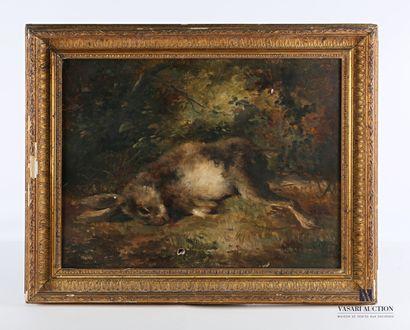 P JUMEIS ? (XIXème siècle)  Lièvre mort  Huile...