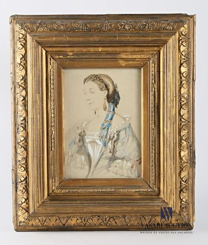 Ecole française du XIXème siècle  Portrait...