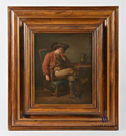 Ecole hollandaise du XIXème siècle  Le buveur...