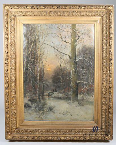SCHWEITZER Adolf Gustav (1847-1914)  Forêt...