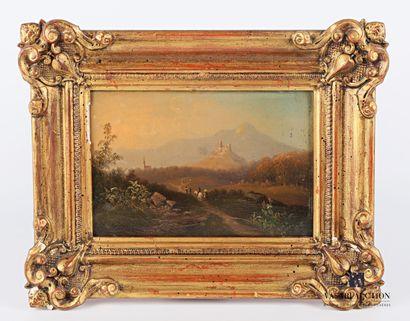 MULLER Fr. (XIXème siècle)  Les ruines de...