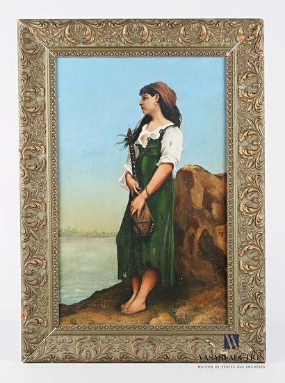 DUQUENNE A. (XIX-XXème siècle)  La bohémienne...