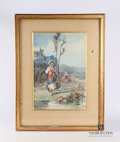 GIOJA Belisario (1829-1906)  Les Bohémiens...