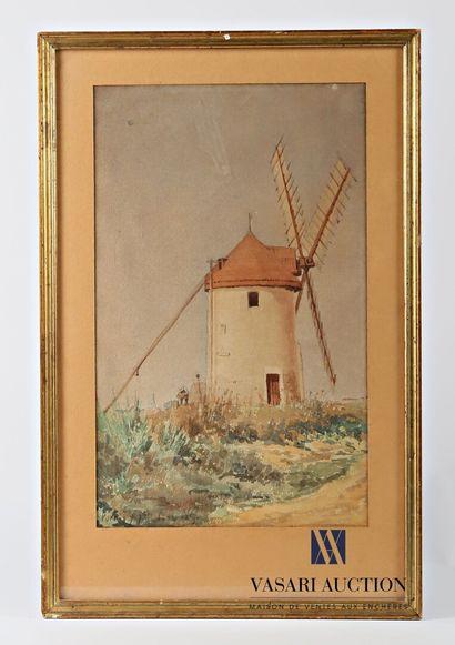Ecole française du XIXème siècle  Moulin...