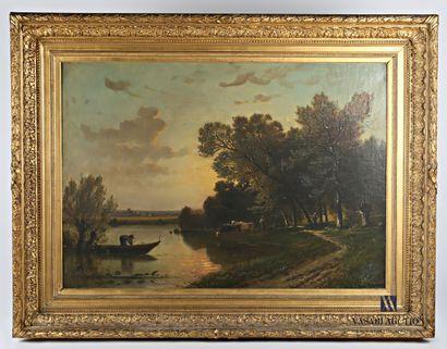 MEURIS F (XIXème siècle)  Vue de campagne...