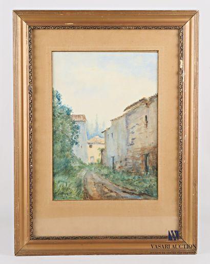 MAZIERES H (XXème siècle)  Chemin menant...