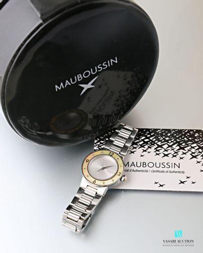 Mauboussin, montre bracelet de dame en acier...