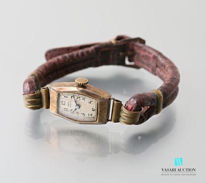 Montre bracelet de dame Art Déco en argent...