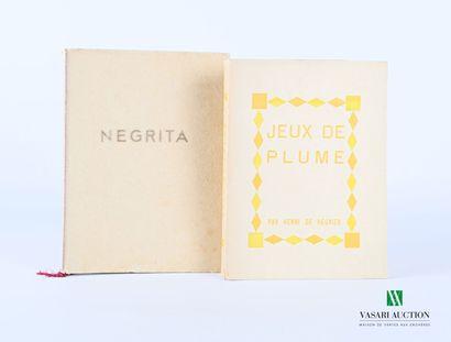 Lot comprenant deux ouvrages :  - DE REGNIER...