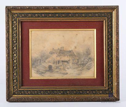 École française du XIXème siècle  Paysage...