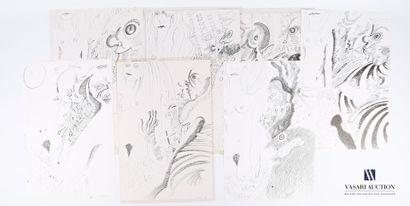 MOREAU Jacques (XXème siècle)  Hallucinations...