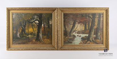 BALADES René (XIXème - XXème siècle)  Ruisseau...