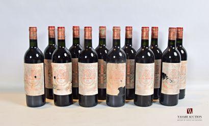 12 bouteillesChâteau PICHON LONGUEVILLEPauillac...