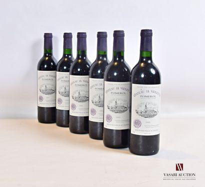 6 bouteillesChâteau LA VIOLETTEPomerol2002...