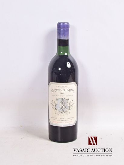1 bouteilleChâteau LA CONSEILLANTEPomerol1964...