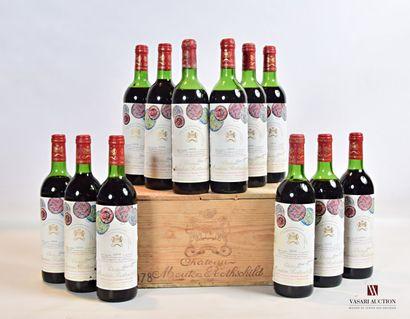 12 bouteillesChâteau MOUTON ROTHSCHILDPauillac...