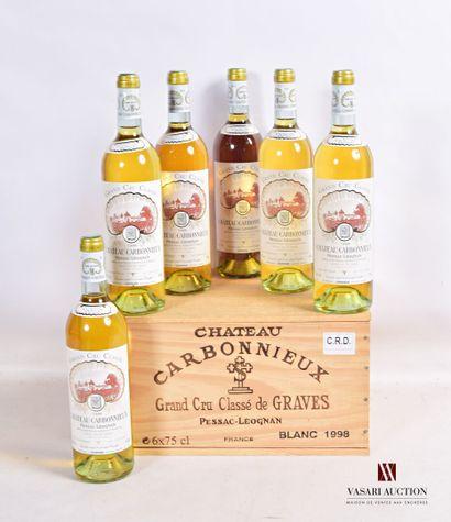 6 bouteillesChâteau CARBONNIEUXGraves GCC...