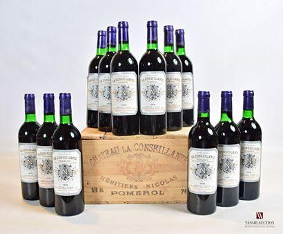 12 bouteillesChâteau LA CONSEILLANTEPomerol1978...