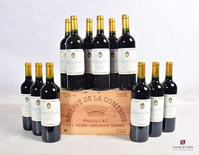 12 bouteillesRÉSERVE DE LA COMTESSEPauillac2005...