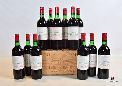 12 bouteillesChâteau LYNCH BAGESPauillac...