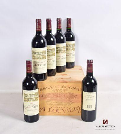 6 bouteillesChâteau LA LOUVIÈREGraves1998...