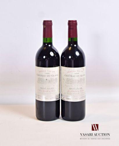 2 bouteillesChâteau du GLANASt Julien 1999...