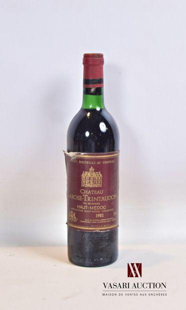 1 bouteilleChâteau LAROSE TRINTAUDONHaut...