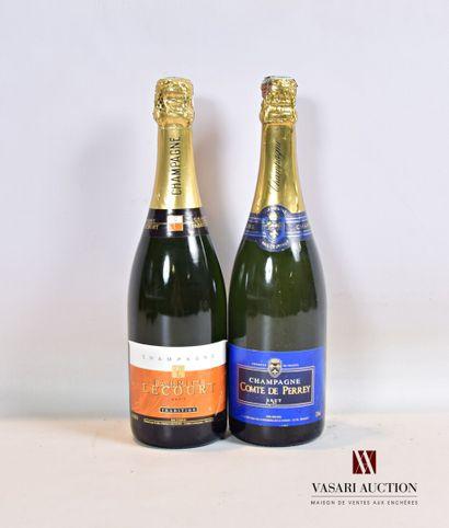 Lot de 2 bouteilles de Champagne comprenant...