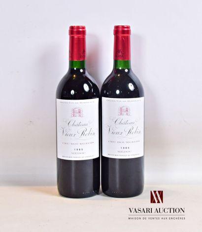 2 bouteillesChâteau VIEUX ROBIN Médoc CB1986...