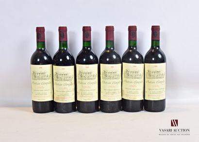 6 bouteillesChâteau CAMPILLOTMédoc1988...