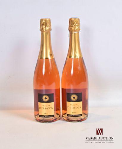 2 bouteillesVin mousseux rosé Brut (Méthode...