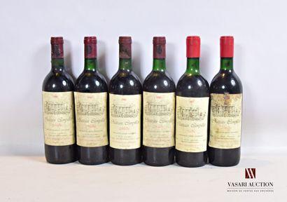 6 bouteillesChâteau CAMPILLOTMédoc  2...