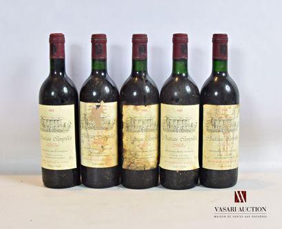 5 bouteillesChâteau CAMPILLOTMédoc1985...