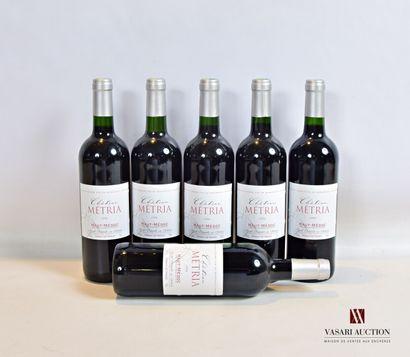 6 bouteillesChâteau MÉTRIAHaut Médoc1994...