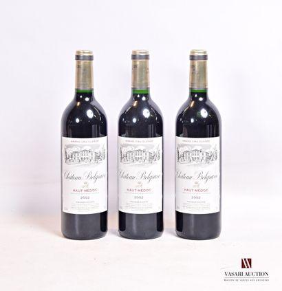 3 bouteillesChâteau BELGRAVEHaut Médoc...