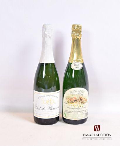 Lot de 2 bouteilles comprenant :  1 bouteilleBLANQUETTE...