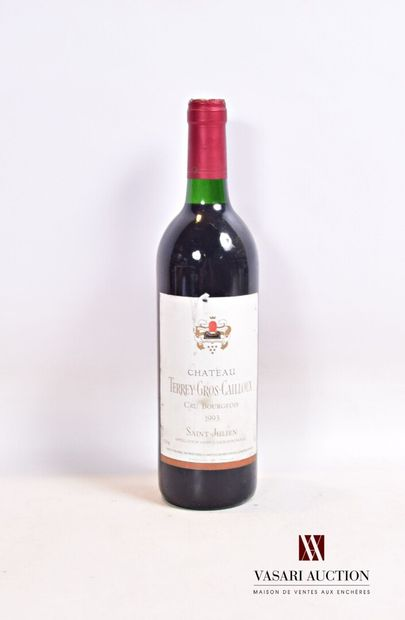 1 bouteilleChâteau TERREY GROS CAILLOUXSt...