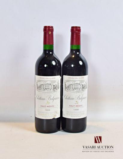 2 bouteillesChâteau BELGRAVEHaut Médoc...