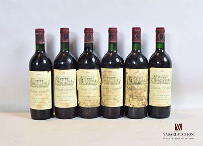 6 bouteillesChâteau CAMPILLOTMédoc1985...